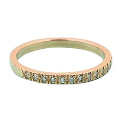Tiffany & Co. Novo Diamond Half Circle Band Ring 18 Karat Rose Gold