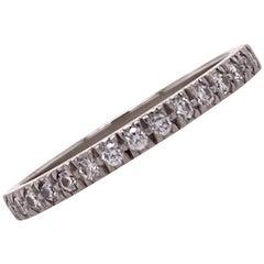 Tiffany & Co. Novo Diamond Half Circle Platinum Wedding Band Ring