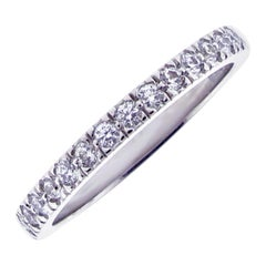 Tiffany & Co. Soleste Diamond Half Circle Wedding Band Ring