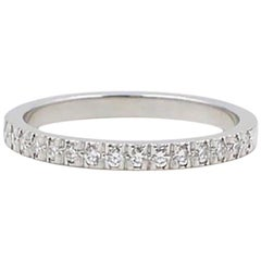 Tiffany & Co. Novo Half-Circle Diamond Platinum Band Ring