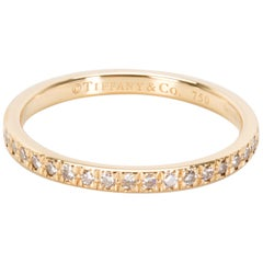 Tiffany & Co. Novo Diamond Wedding Band in 18 Karat Yellow Gold '0.36 Carat'