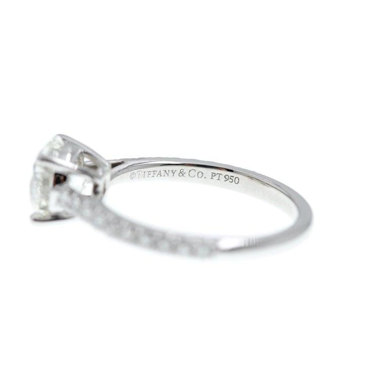 Women's Tiffany & Co. Novo Round Diamond Engagement Ring 1.21 Carat in Platinum For Sale