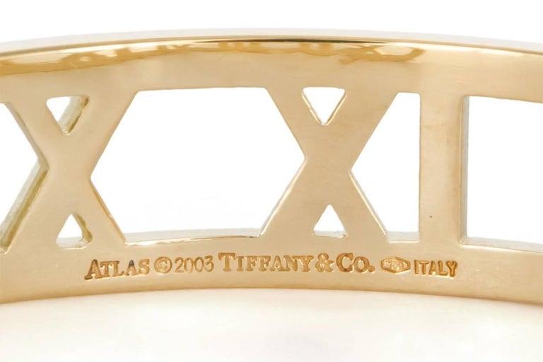 Tiffany And Co Open Atlas Roman Numeral 18 Karat Yellow