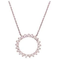 Tiffany & Co. Open Circle Diamond Pendant in Platinum Medium 0.93 Carat