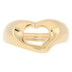Tiffany & Co. Open Heart Ring, 18 Karat Yellow Gold Elsa Peretti