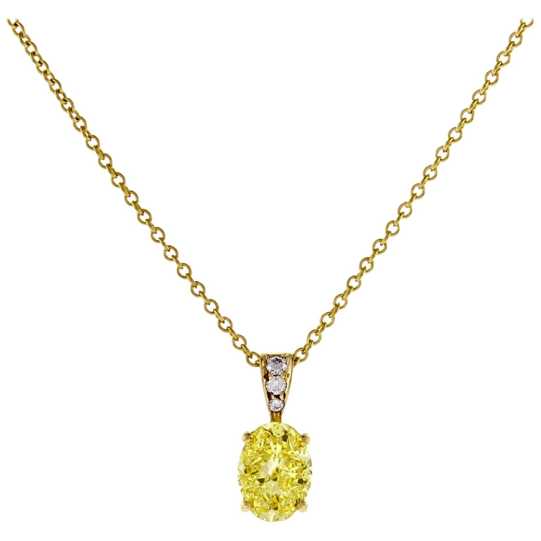 Tiffany & Co. Oval Yellow Diamond Pendant