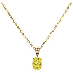Tiffany & Co. Oval Yellow Diamond Pendant