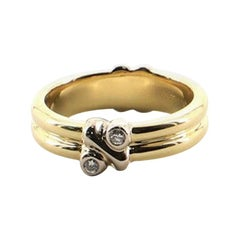 Tiffany & Co. Paloma Double Band Ring 18 Karat Yellow Gold with Diamonds