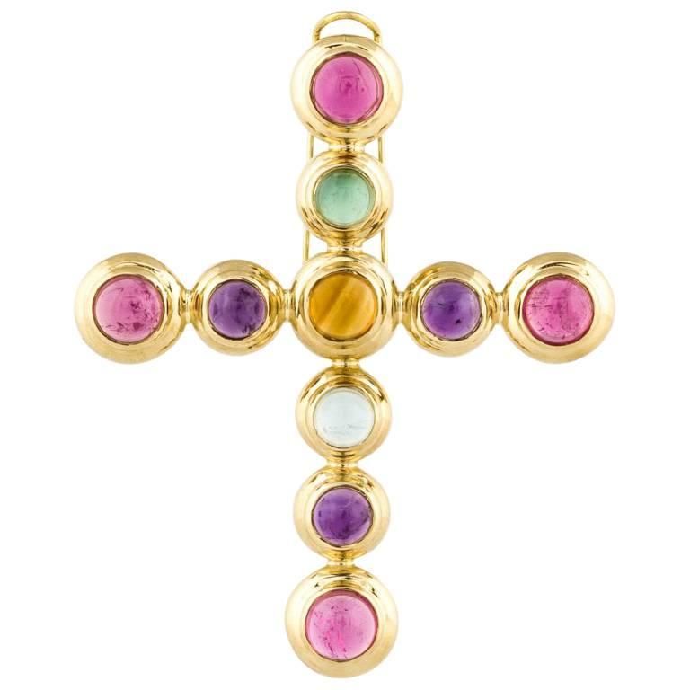 a0dfdba82 Tiffany and Co. Paloma Picasso 18 Karat Cross Pendant at 1stdibs