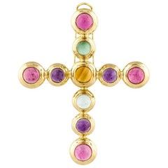 Tiffany & Co. Paloma Picasso 18 Karat Cross Pendant