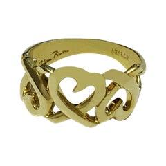 Tiffany & Co. Paloma Picasso 18 Karat Loving Heart Ring
