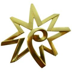 Tiffany & Co. Paloma Picasso 18 Karat Yellow Gold Star Pendant Vintage