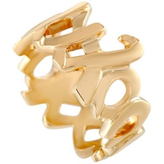 Tiffany & Co. Paloma Picasso 18 Karat Yellow Gold XO Ring