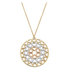 Tiffany & Co. Paloma Picasso 18k Tricolored Gold Crown of Hearts Medallion