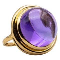Tiffany & Co. Paloma Picasso 26 Carat Cabochon Amethyst Ring in 18 Karat Gold