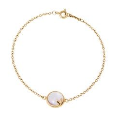 Tiffany & Co. Paloma Picasso Amethyst Cabochon 18K Yellow Gold Bracelet