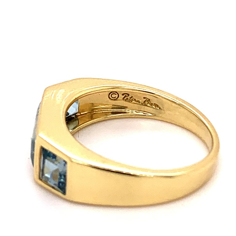 Emerald Cut Tiffany & Co. Paloma Picasso Blue Topaz Ring For Sale