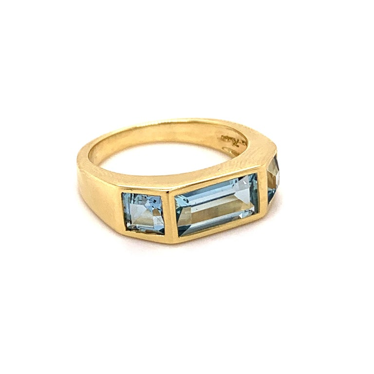 Tiffany & Co. Paloma Picasso Blue Topaz Ring In Excellent Condition For Sale In New York, NY