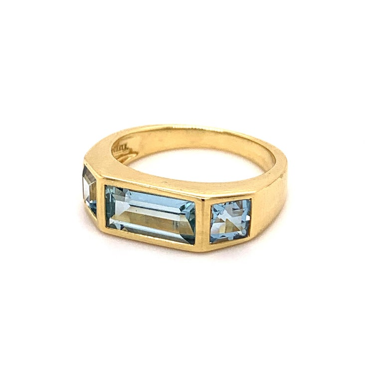 Women's or Men's Tiffany & Co. Paloma Picasso Blue Topaz Ring For Sale