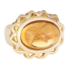 Tiffany & Co. Paloma Picasso Citrine Ring Vintage 18 Karat Yellow Gold East West