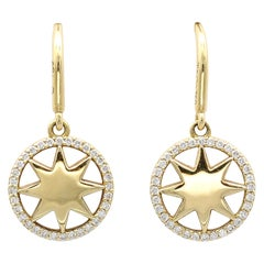 Tiffany & Co. Paloma Picasso Diamond 18 Karat Gold Sunburst Drop Earrings