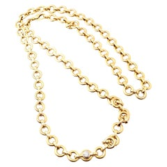 Tiffany & Co. Paloma Picasso Diamond Link Long Yellow Gold Necklace