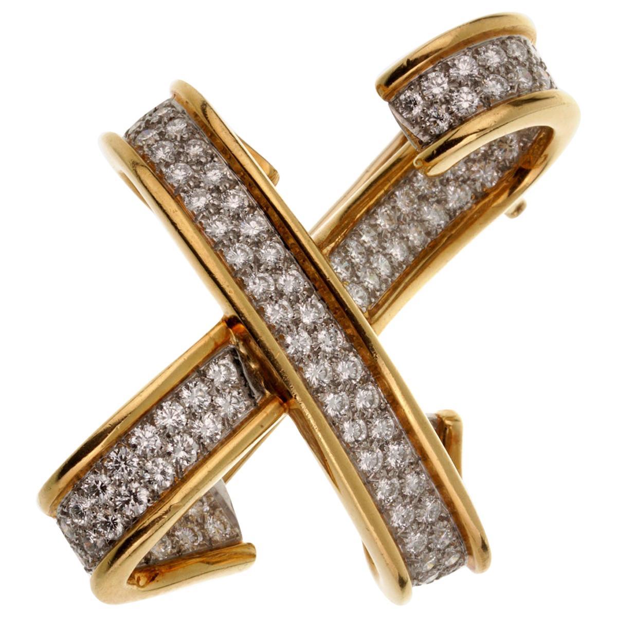 Tiffany & Co. Paloma Picasso Diamond X Brooch