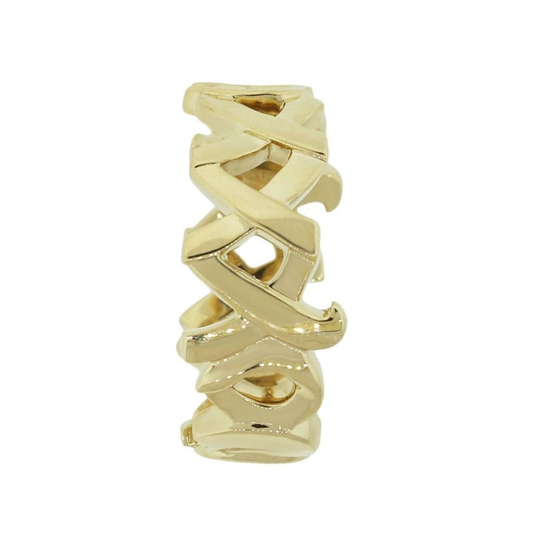 d78bbb120 Tiffany & Co. Paloma Picasso Graffiti Love and Kisses Ring In Excellent  Condition For Sale