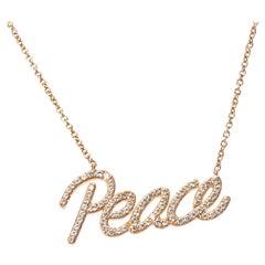 Tiffany & Co. Paloma Picasso Graffiti Peace Pendant in 18K Rose Gold 0.21 Carat