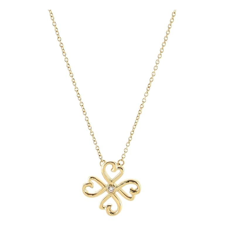 Tiffany & Co. Paloma Picasso Loving Heart Pendant Necklace 18K Yellow Gold