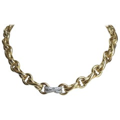 Tiffany & Co. Paloma Picasso Necklace in 18 Carat Gold, Platinum and Diamonds