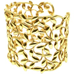 Tiffany & Co. Paloma Picasso Olive Leaf Cuff in 18 Karat Yellow Gold
