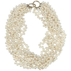 Tiffany & Co. Paloma Picasso Pearl and Gold Torsade Necklace