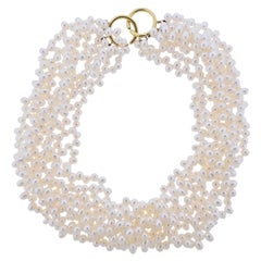 Tiffany & Co. Paloma Picasso Pearl Gold Torsade Necklace