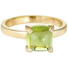 Tiffany & Co. Paloma Picasso Peridot Sugar Stacks Ring 18 Karat Gold 5 Estate