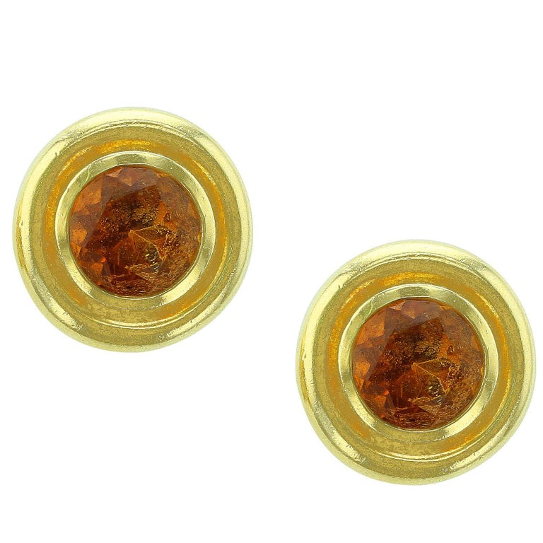 Tiffany & Co. Paloma Picasso Round Citrine Earrings For Sale