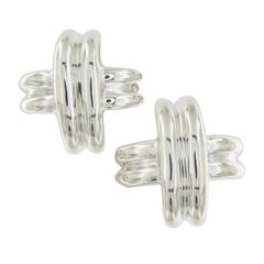 Tiffany & Co. Paloma Picasso Signature X Sterling Silver Earrings