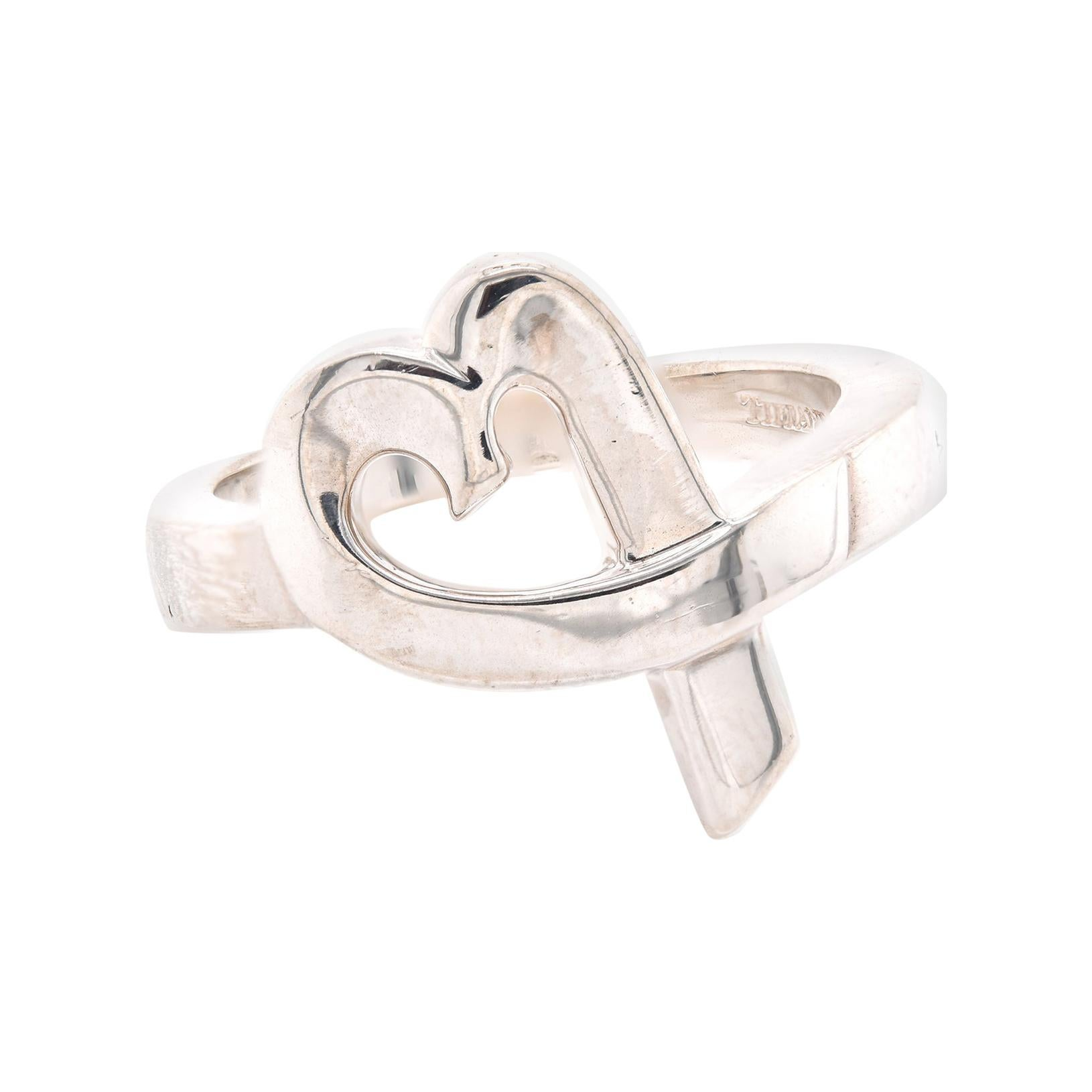 Tiffany & Co. Paloma Picasso Sterling Silver Open Heart Ring