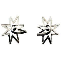 Tiffany & Co. Paloma Picasso Sterling Silver Starburst Earrings
