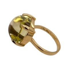 Tiffany & Co. Paloma Picasso Sugar Stack Citrine 18 Karat Yellow Gold Ring