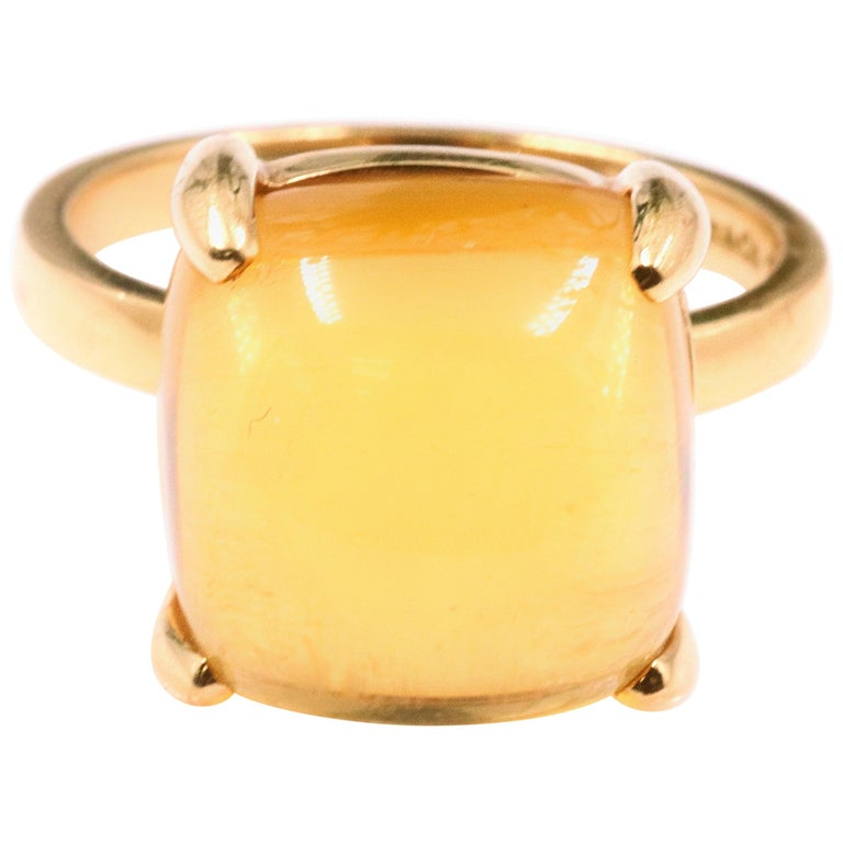 a0d71e724 Tiffany & Co. Paloma Picasso Sugar Stack Citrine Ring 18 Karat Gold 8 Carat  For
