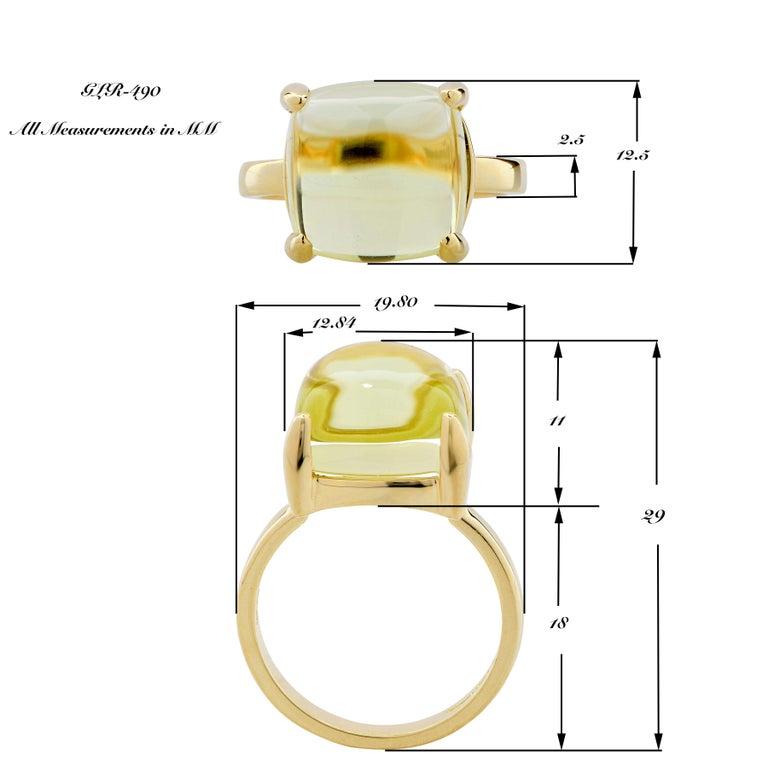 cabade2cc Tiffany & Co. Paloma Picasso Sugar Stacks Citrine 18 Karat Yellow Gold Ring  For Sale