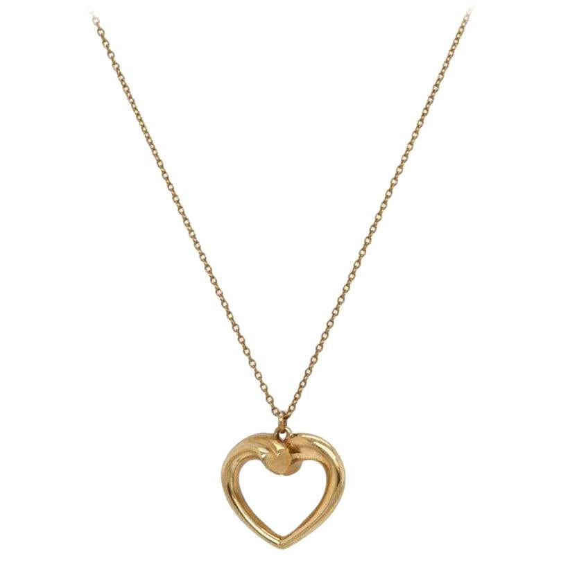 Tiffany & Co Paloma Picasso Tenderness Heart Pendant in 18K