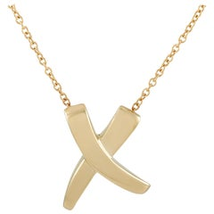 Tiffany & Co. Paloma Picasso X Graffiti 18 Karat Yellow Gold Pendant Necklace