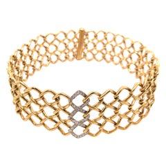 Tiffany & Co. Paloma Picasso Yellow Gold and Platinum Diamond Choker
