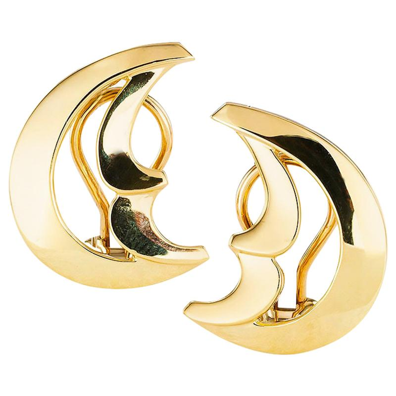 Tiffany & Co. Paloma Picasso Yellow Gold Clip On Earrings