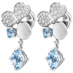 Tiffany & Co. Paper Flowers Aquamarine Single Drop Earring