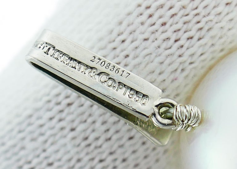 Tiffany & Co. Pearl Strand Necklace with Diamond Platinum Clasp, Opera Length For Sale 4