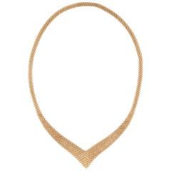 Tiffany & Co. Elsa Peretti 18K Yellow Gold Mesh Necklace