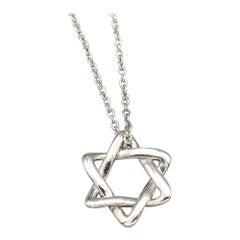 Tiffany & Co. Peretti Platinum Star of David Pendant Necklace